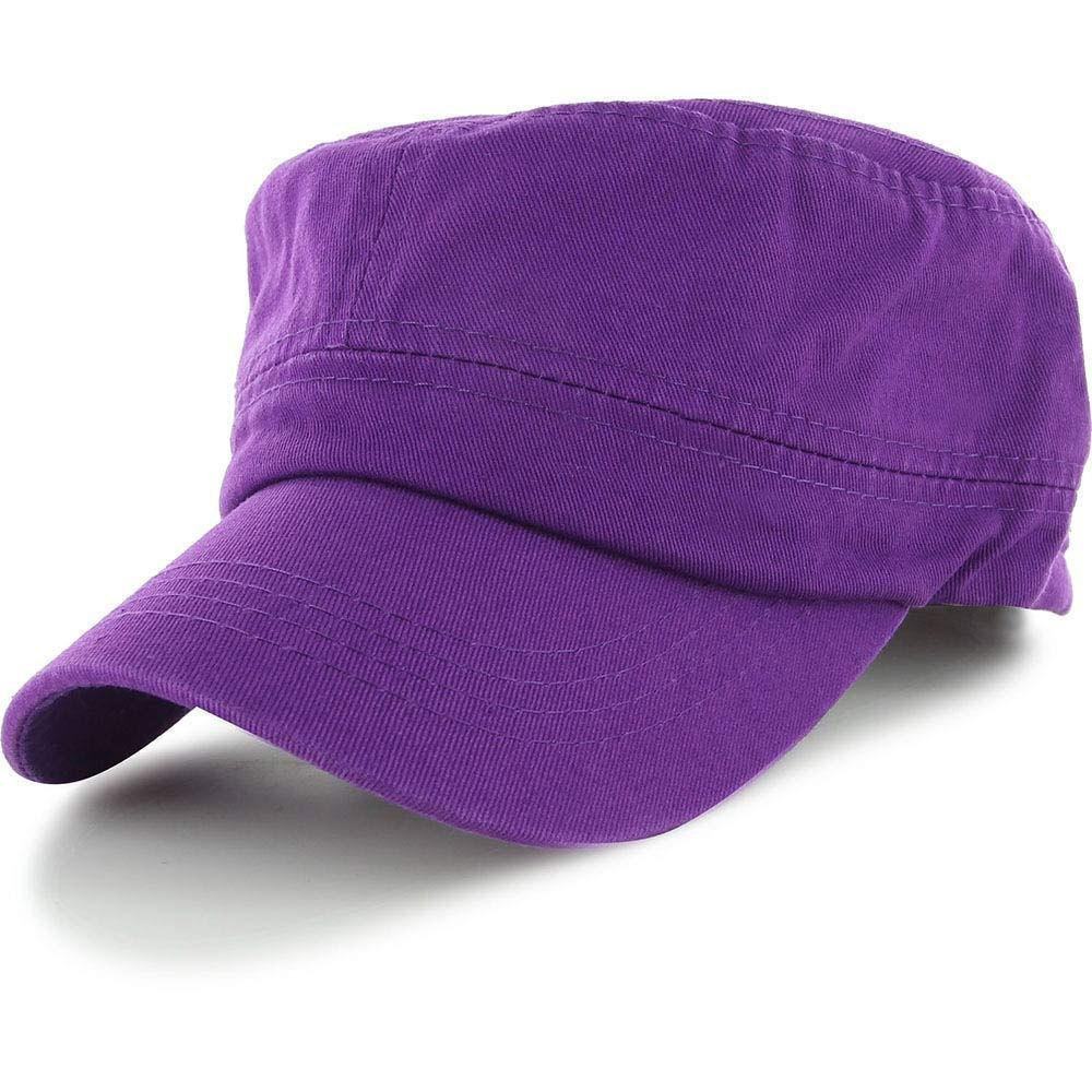 Purple_(US Seller)Military Style Caps Hat Unizex Bucket