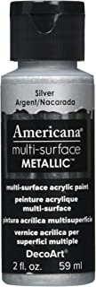 product image for DecoArt Americana Multi-Surface Metallic Paint, 2-Ounce, Silver