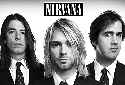 Nirvana Poster 13x19quot Black And White