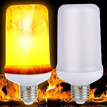 E27 9W 4 Modi LED Flammeneffekt Simulierte Natur Feuer Glühbirne Dekoration Lamp