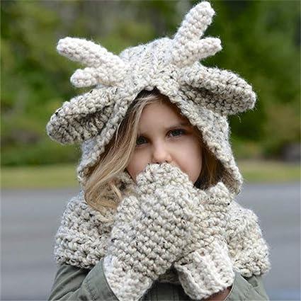 Amazon Jennyshop Winter Kids Warm Fox Animal Hats Knitted Coif