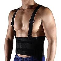 Faja Lumbar para Trabajo Soporte de la Espalda más fuerte Ajustable de uso médico Soporte de la espalda y Alivio del Dolor de Espalda, Mejorar la Postura Corrector de Postura Mujer y Hombre2062