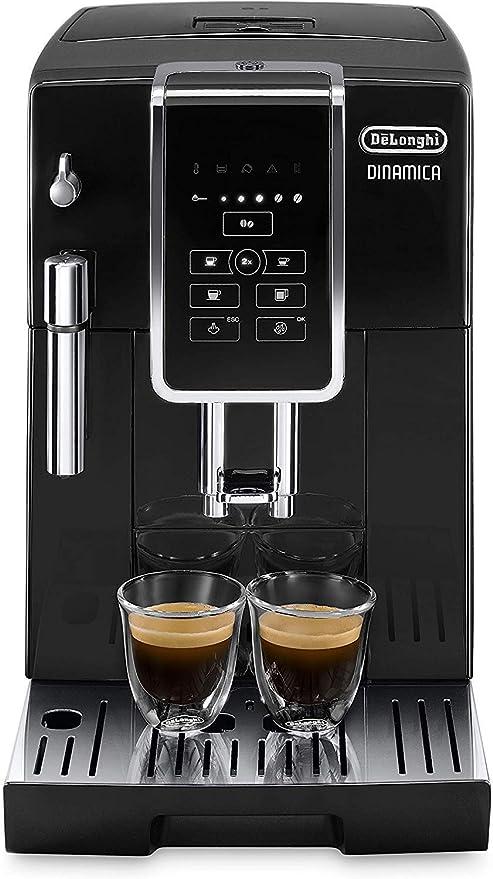 Delonghi Dinamica Ecam350.15.B - Cafetera superautomática, 1450w, panel control intuitivo táctil lcd, dispositivo de cappuccino, negro