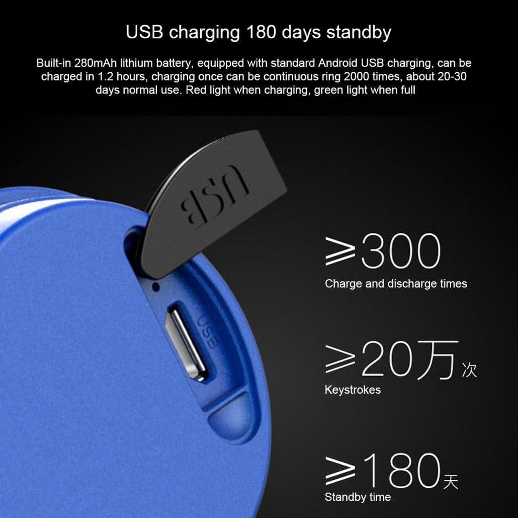 AOOPOO V/élo Bell V/élo /électrique Sonnette 120dB Corne de v/élo 3 modes Audio USB rechargeable