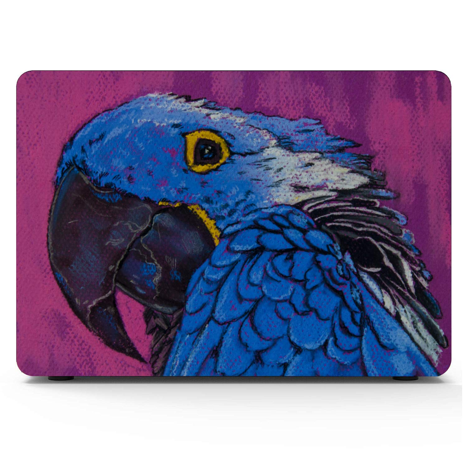 2018 MacBook Air Case Smart Cute Bird Parrot Oil Painting Plastic Hard Shell Compatible Mac Air 11 Pro 13 15 MacBook Air Cases Protection for MacBook 2016-2019 Version