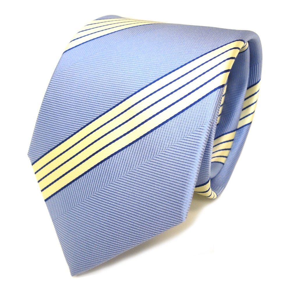 Corbata de seda - azul claro crema rayas: Amazon.es: Ropa y accesorios