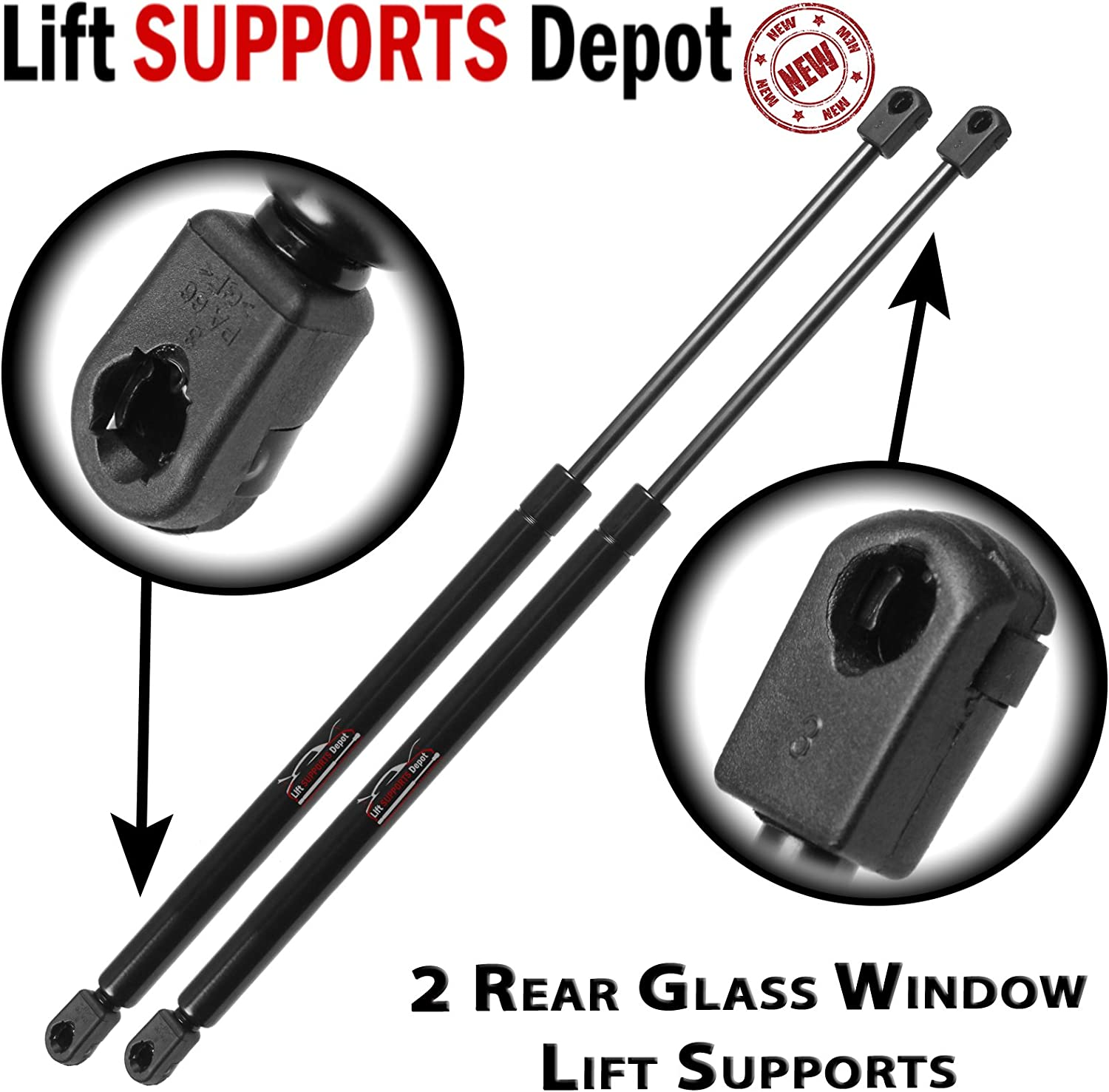 Quantity of of 2 Back Glass Lift Support Strong Arm 4372