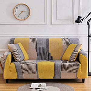 Chozan Pattern Sofa Slipcovers Stretch Printed Sofa Cover with 2 Pillowcases for 3 Seat Cushion Couch Furniture Pet Protector Spandex Cover L-Shape Available(Unique, Sofa-3 Seater)