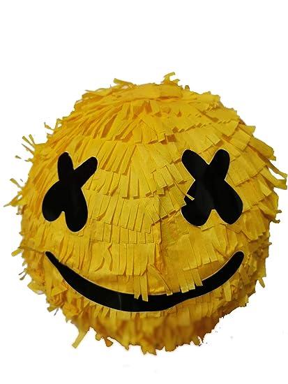 Glowintime Piñata Redonda Con Sonrisa Para Fiesta De