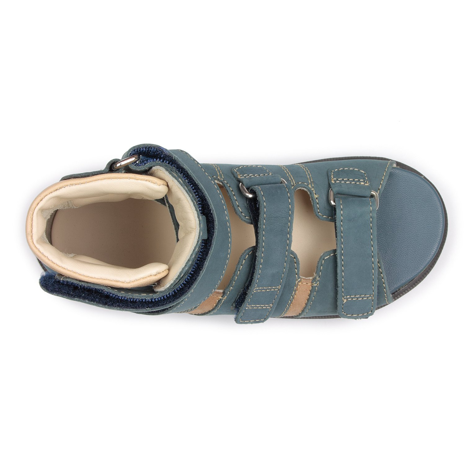 Memo Basic 1CH Suede CP Kids AFO Brace Sandal, 12.5 Little Kid M (30) by Memo (Image #6)