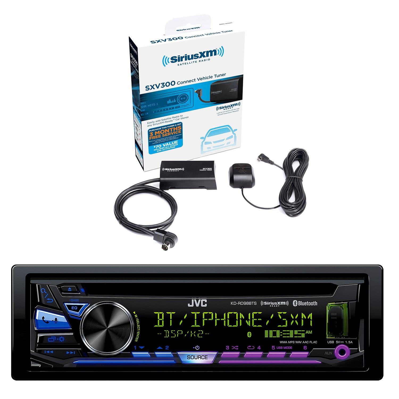 JVC Single DIN Bluetooth In-Dash CD/AM/FM Car Stereo and Sirius Vehicle Satellite Radio Tuner