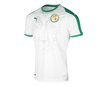Puma Senegal Home Camiseta SS Réplica Camiseta, Hombre, 754925, Puma White-Pepper Green, XX-Large: Amazon.es: Deportes y aire libre