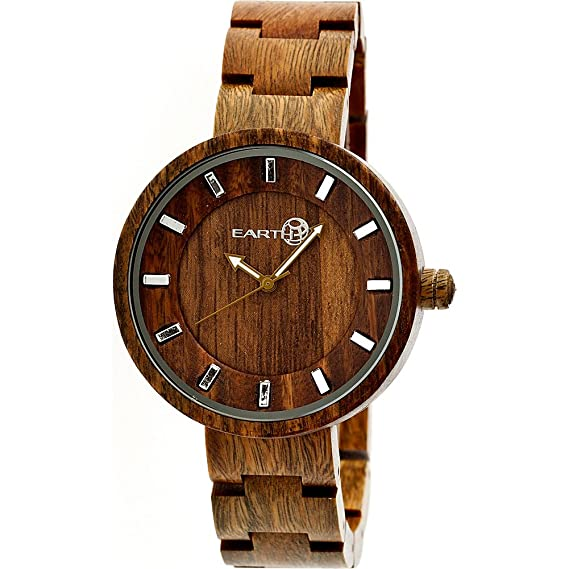 Earth Wood Reloj con movimiento cuarzo japonés Unisex Root 40.0 mm: Amazon.es: Relojes