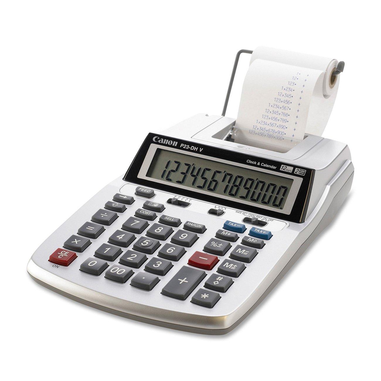 Amazon Canon P23 Dh V 2 Color Mini Desktop Printing Calculator