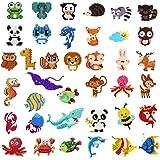 39Pcs 5D Diamond Painting Stickers Kits for Kids, Creatiee DIY Art Craft Animal & Sea World Painting with Diamonds…
