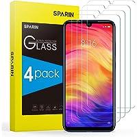 [4 Pezzi] SPARIN Pellicola Vetro Temperato Compatibile con Xiaomi Redmi Note 7 / Note 7 Pro, Pellicola Protettiva per Redmi Note 7/7 Pro [Ultra Resistente] [Durezza 9H] [Bordo rotondo 2.5D]