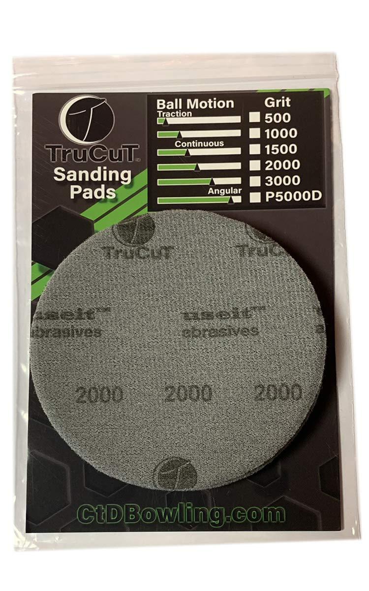500 1000 TruCut Sanding Pads 2000 grit 10 pack