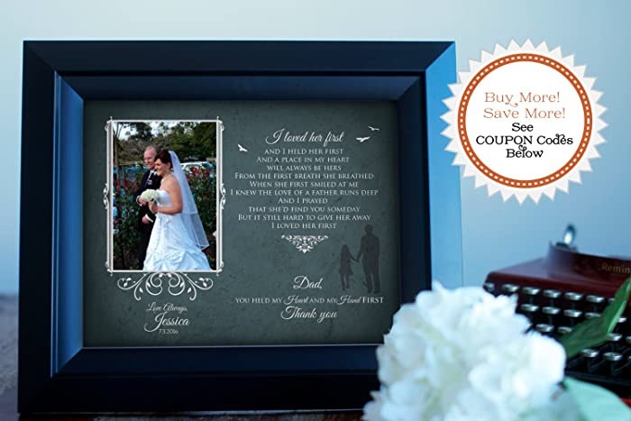 Amazoncom Father Of The Bride Picture Frame I Loved Her First