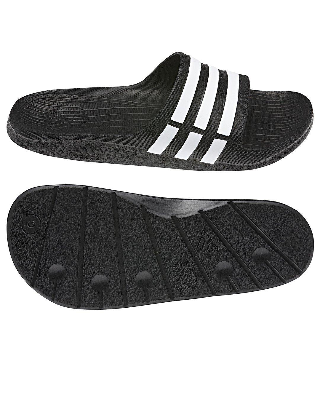 Adidas Badelatschen Duramo Slide Adilette black-white-black (G15890) 39 schwarz 39|noir/blanc/noir