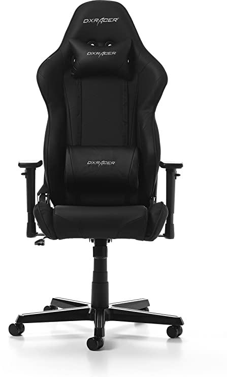 DXRacer Racing OH/RZ0/N Gaming Chair, Piel sintética, Negro, Normal/Large: Amazon.es: Hogar