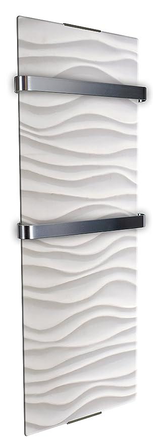 CheminArte - 0113 - Secador de toallas decorativo con diseño de ondas, 1200