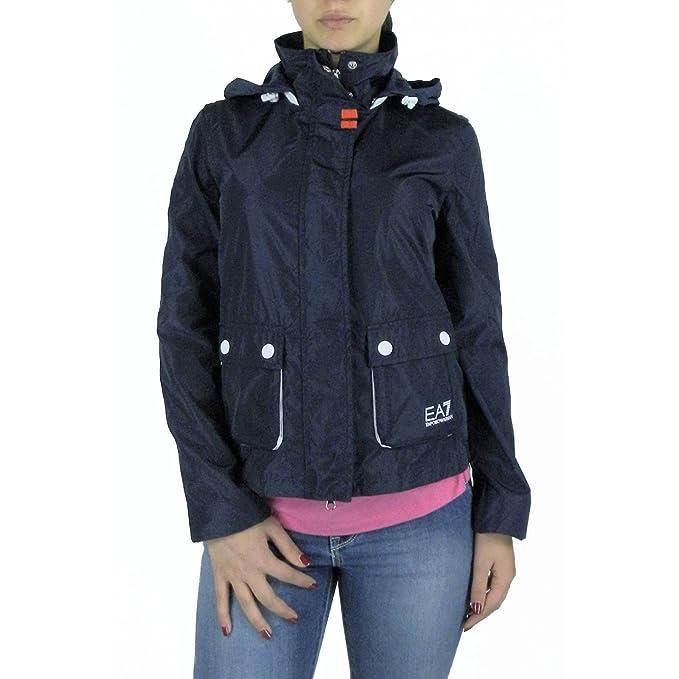 Emporio Armani - Abrigo impermeable - para mujer turquesa XL: Amazon.es: Ropa y accesorios