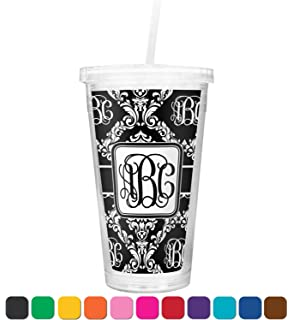 amazon com personalized insulated tumbler with straw and lid tumblers