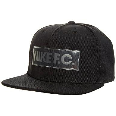 Nike U Nk FC True Cap Gorra de Tenis, Hombre, Negro Black/White ...
