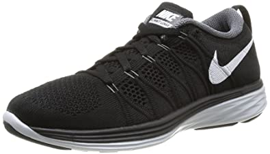 NIKE Flyknit Lunar 2 Women's Running Shoe Size US 10.5 M Black/White