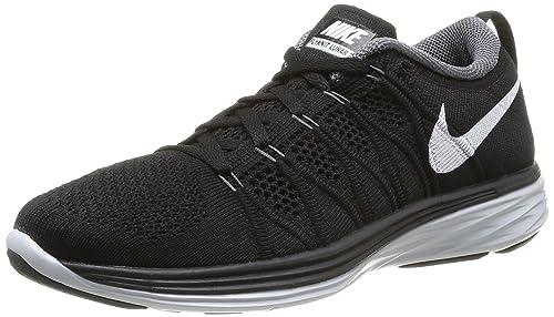 pretty nice 0cf33 0eebd Nike Women s WMNS Flyknit Lunar2, Black White-Dark Grey-Pure Platinum,