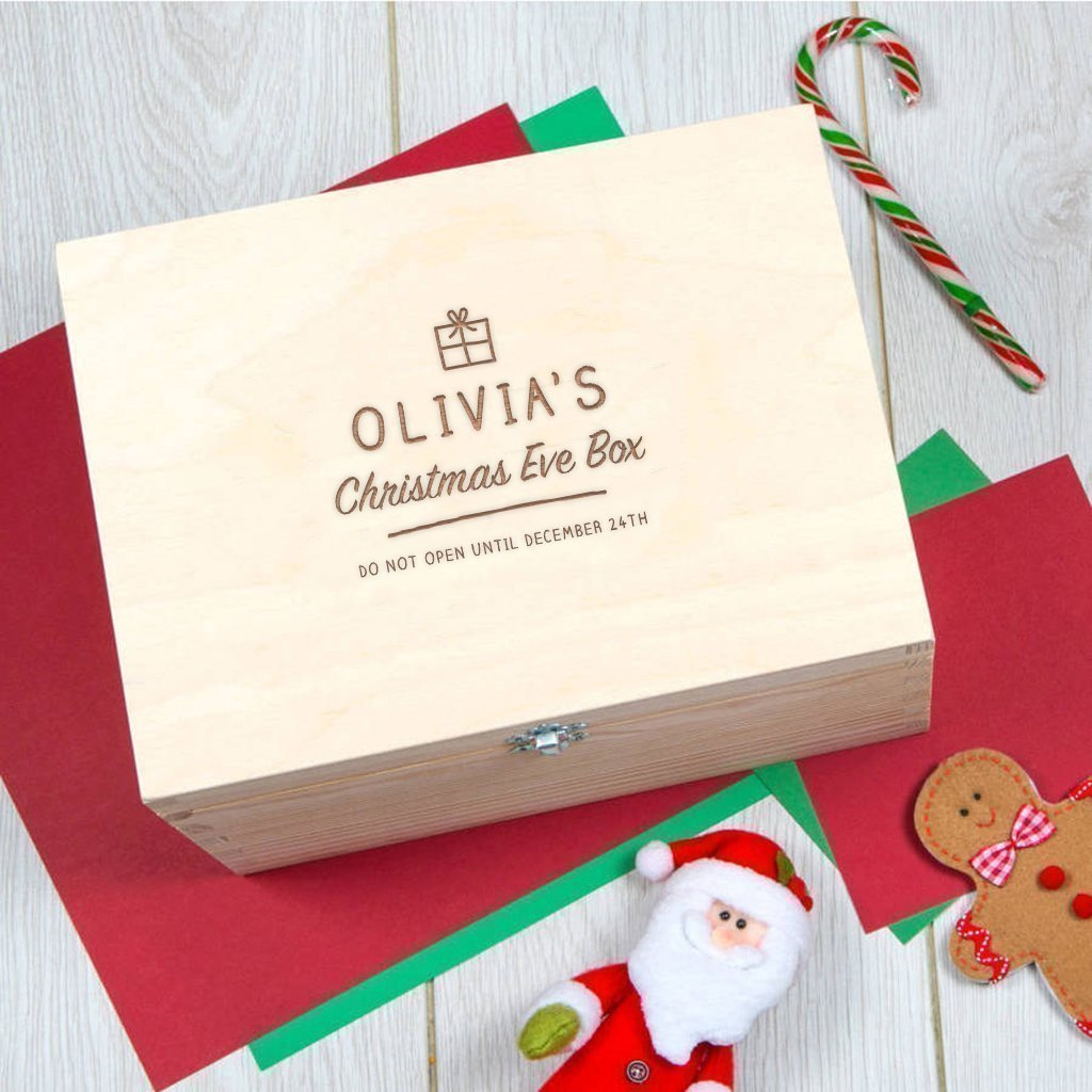 Personalized Christmas Eve Box/Engraved Christmas Eve Box/Personalized Xmas Stocking Alternative/Personalized Christmas Gifts For Children/Christmas Box Gift