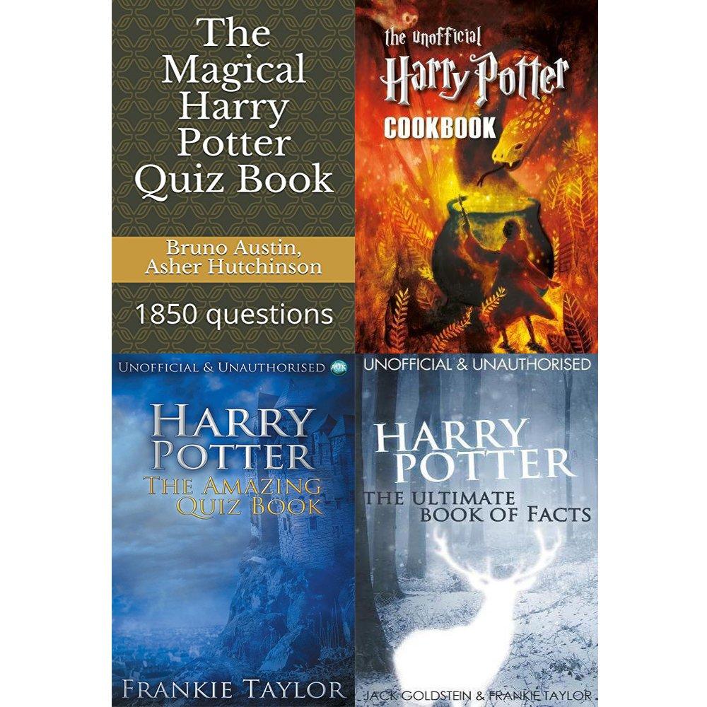 Magical harry potter quiz book, unofficial cookbook, amazing