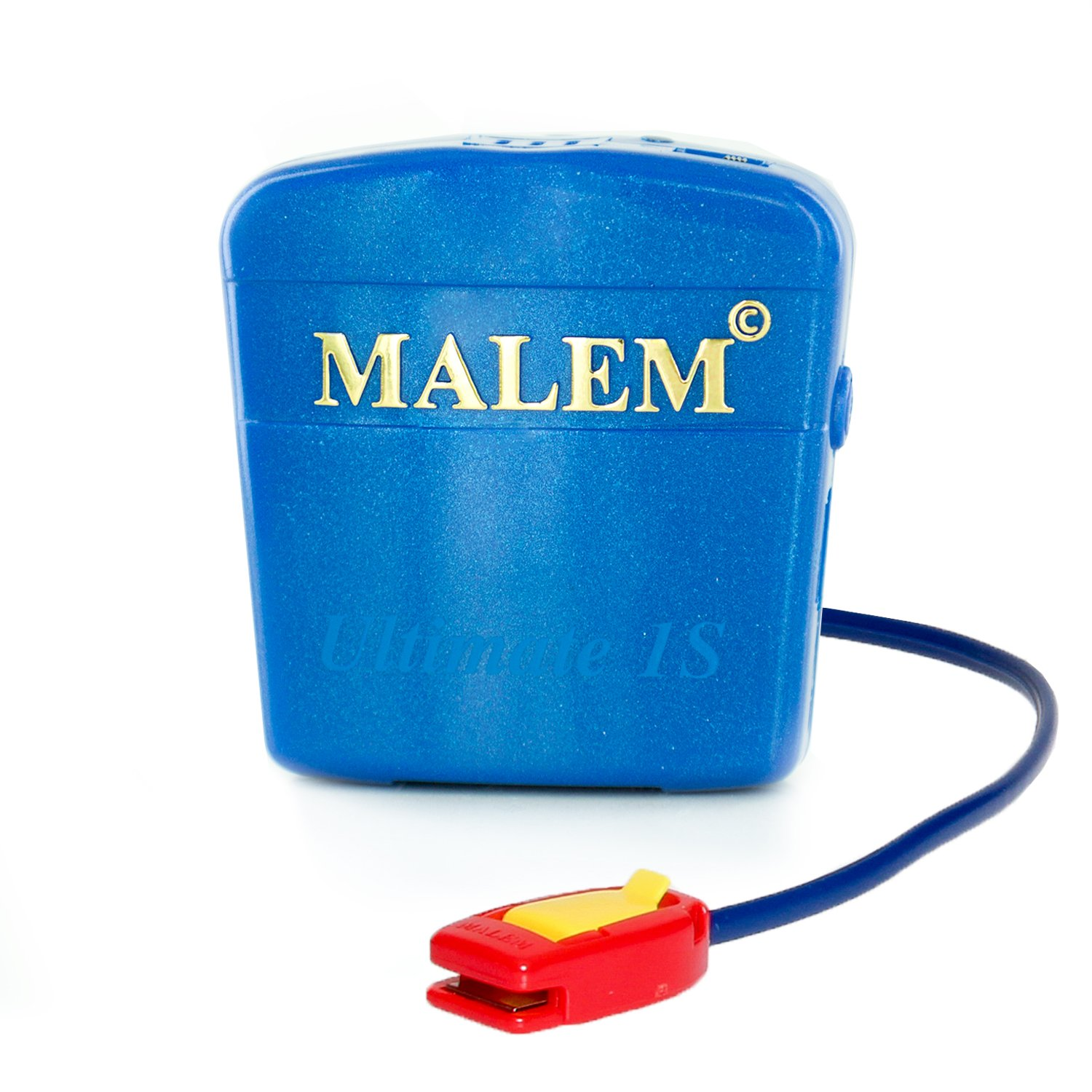 Malem Ultimate Selectable Bedwetting Enuresis Alarm with Vibration - Royal Blue by Malem