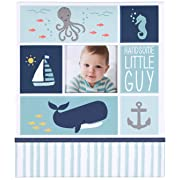 Carter's Blue Nautical My First Years Bound Memory Book for Baby Boys, 10  W x 11.75  H, 60 Pages
