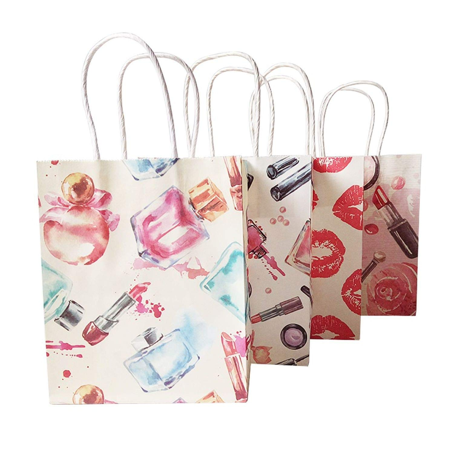 50 Pcs/Lot 15x18 cm Cosmetic Pattern Printing Paper Bags with Handle Gift Bags Party Favor Wedding Packaging Storage Bags,Perfume by JIA-WALK (Image #4)