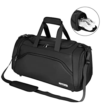4b2504949005 Speedsporting Sports Gym Bag Waterproof Travel Duffle Bag Training Handbag  with Shoe Compartment Travel Holdall Large