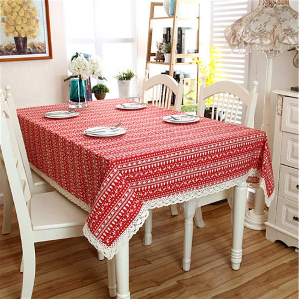 Shuangklei Weihnachtstischdecke Cartoon Weihnachtstischdecken Kleidung Abdeckung Tischdecke Tischdecke Tischdecke Tischdecken, 140X220Cm