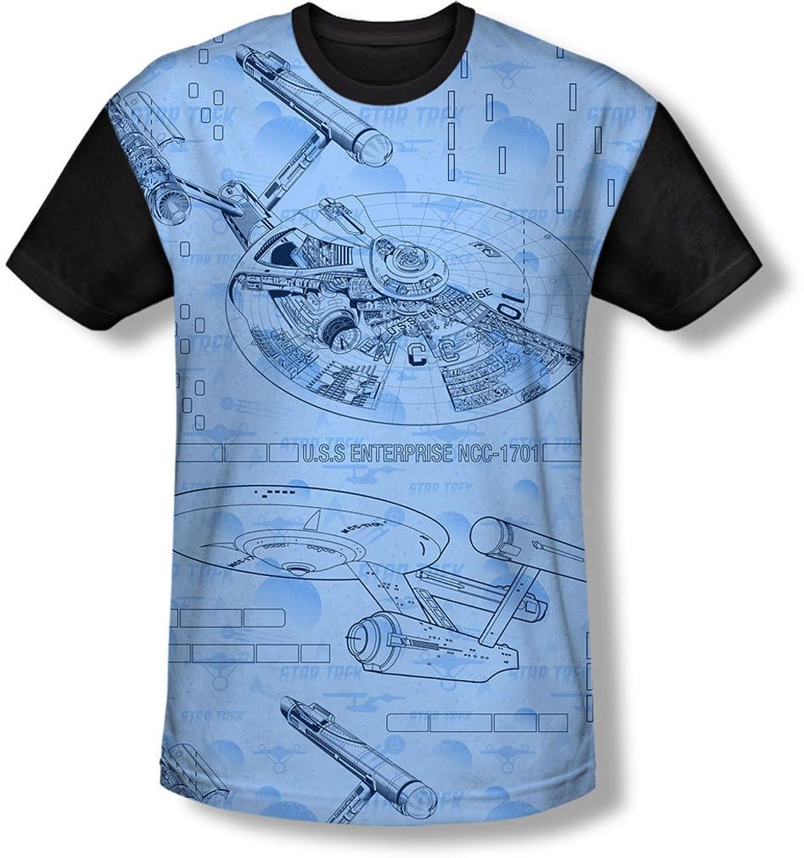 Star Trek - Mens Blue Print T-Shirt