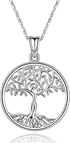 Tree of Life Necklace Large Pendant Family Filigree SN 925 Sterling Silver