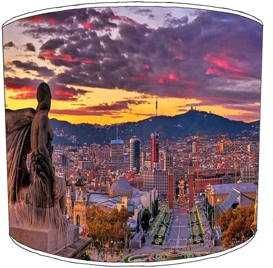 Premier Lighting Ltd 25cm Ciudad de Barcelona Pantallas de lámparas12 para una lámpara de Mesa: Amazon.es: Hogar