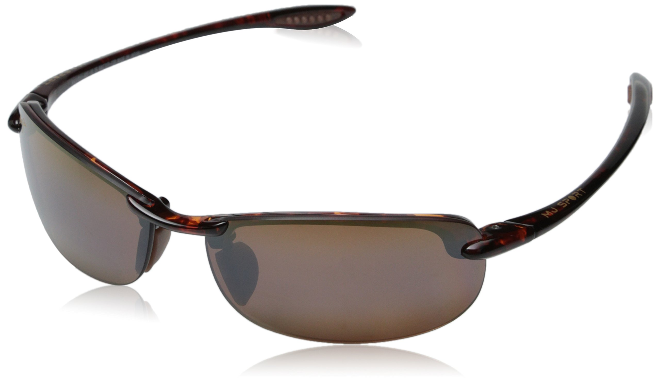 Maui Jim Unisex-Adult Makaha Reader H805-1015 Polarized Rimless Sunglasses, Tortoise, 64 mm by Maui Jim