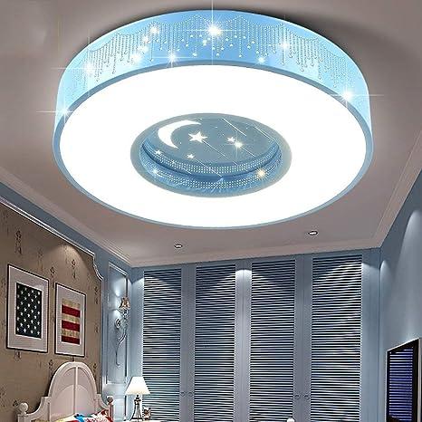HBA habitación de los Niños LED acrílico azules redondas ...