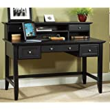 Home Styles 5531-15 Bedford Executive Desk, Black Finish