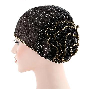Amazon.com: Botrong Women Stretch Turban Hat Chemo Cap Hair Loss Head Scarf Wrap Cap (Black): Cell Phones & Accessories
