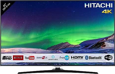 "Televisor Hitachi de 43"" (107,9 cm) 4K / Smart TV: Netflix"