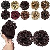 MORICA 2PCS Messy Bun Hair Scrunchies Messy Bun Hair Piece for Women Curly Wavy Scrunchy Updo Bun Hair