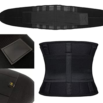 Bennlife Waist Trimmer Belt Back Support Adjustable Abdominal Elastic Waist Trainer Hourglass Body Shaper