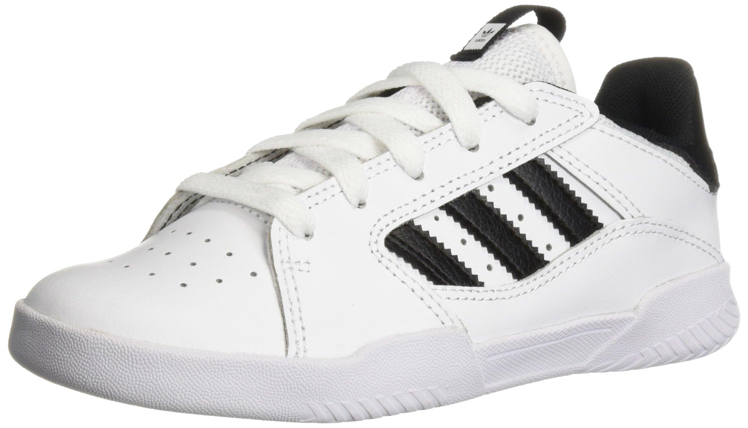 adidas Originals Unisex VRX Low Skate Shoe, white/black/white, 4 M US Big Kid