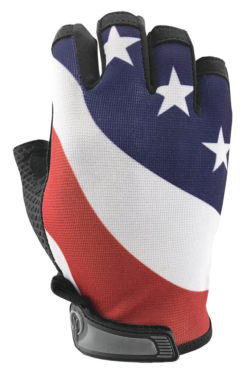 USA American Flag HALF Finger Gloves for Gym, Exercise, Cross Training, Driving, Cycling, and Multi-Use