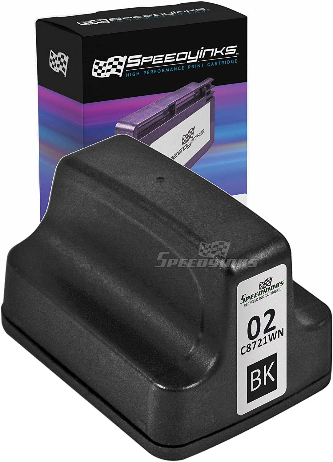 Speedy Inks Remanufactured Ink Cartridge Replacement for HP 02 (Black)